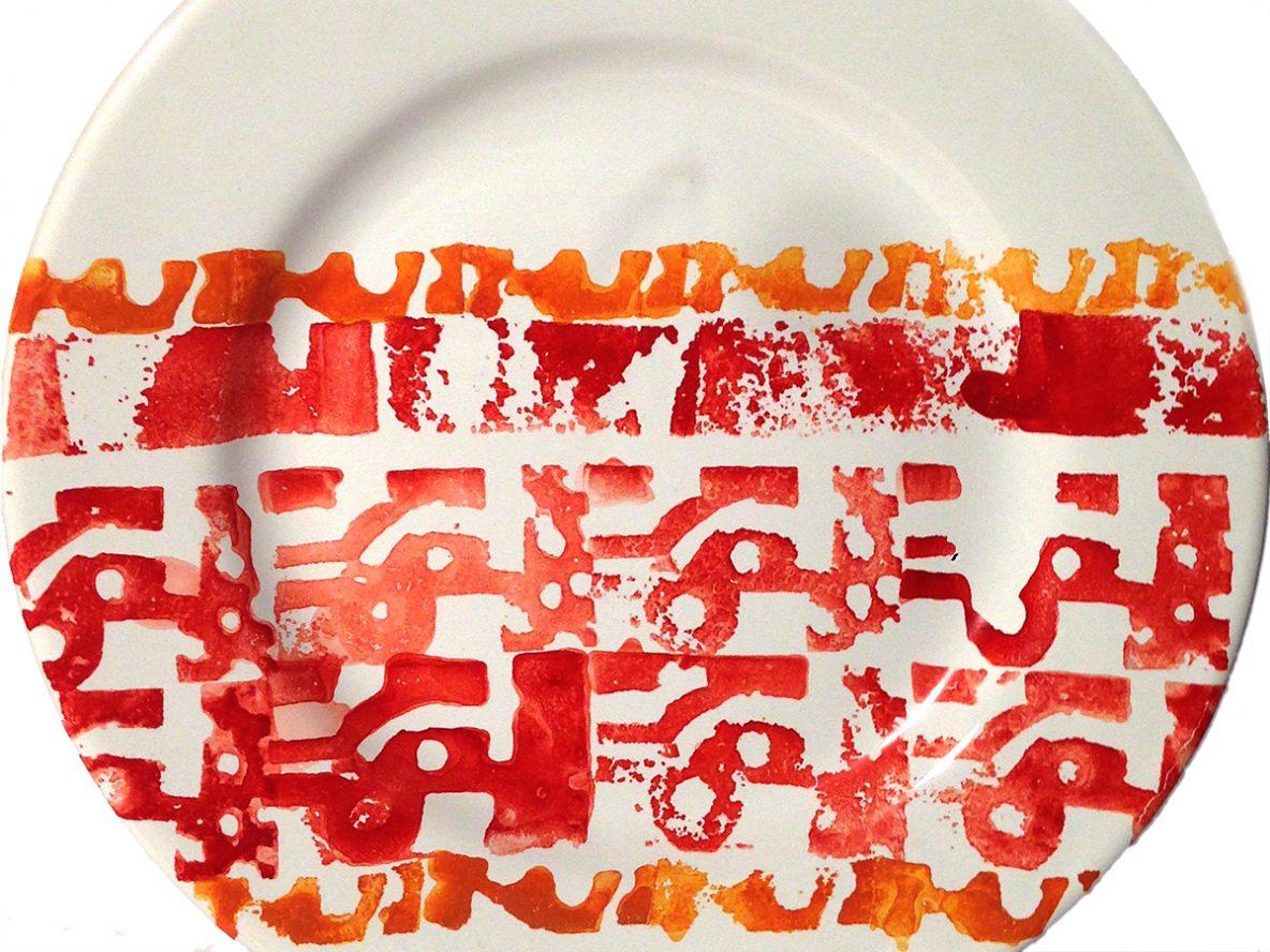 Piatto ceramica Astratto
