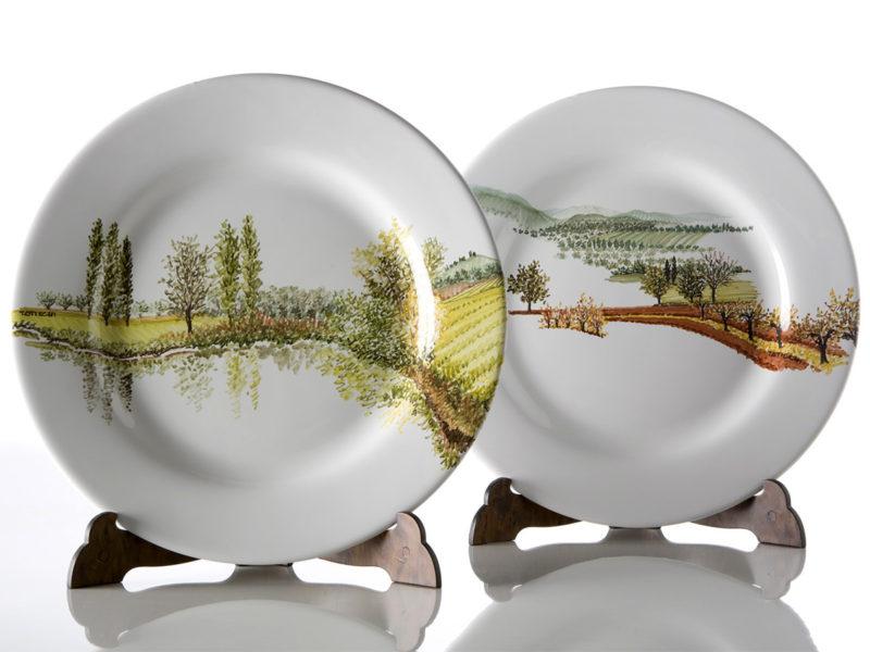 Piatti ceramica Collezione Visioni