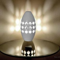lampada da tavolo ceramica bianca pink lamp base