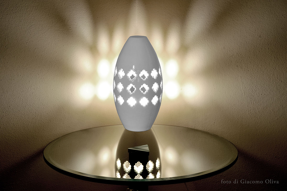 Lampada da tavolo in ceramica pink lamp basic materia - Base per lampada da tavolo ...