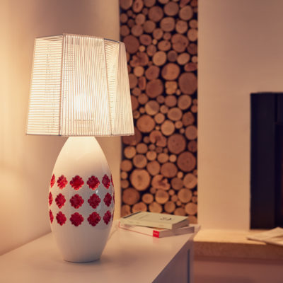 Lampada in ceramica Pink Lamp