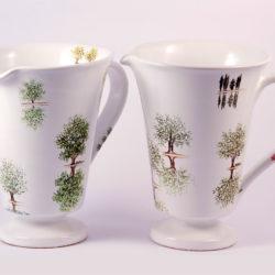 Brocca ceramica dipinta a mano Collezione Alberi