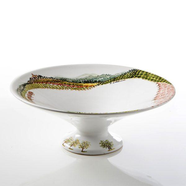 Fruttiera ceramica dipinta a mano