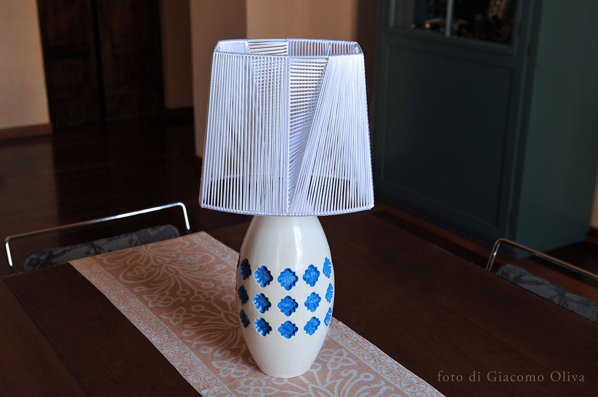 Lampada da tavolo in ceramica pink lamp articity materia ceramica perugia - Lampade da tavolo in ceramica ...