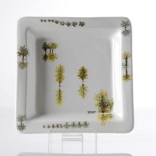 Piatto ceramica dipinto a mano Collezione Alberi