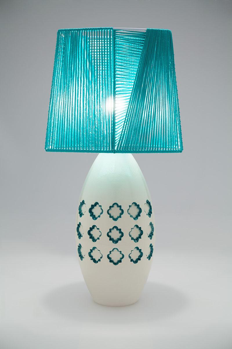 Lampada da tavolo in ceramica design originale Materia Ceramica