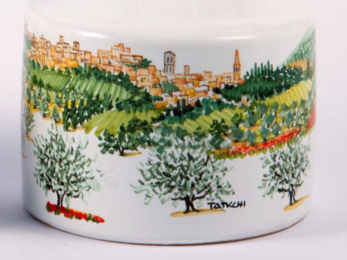 Vaso ceramica umbra Collezione Paesaggio