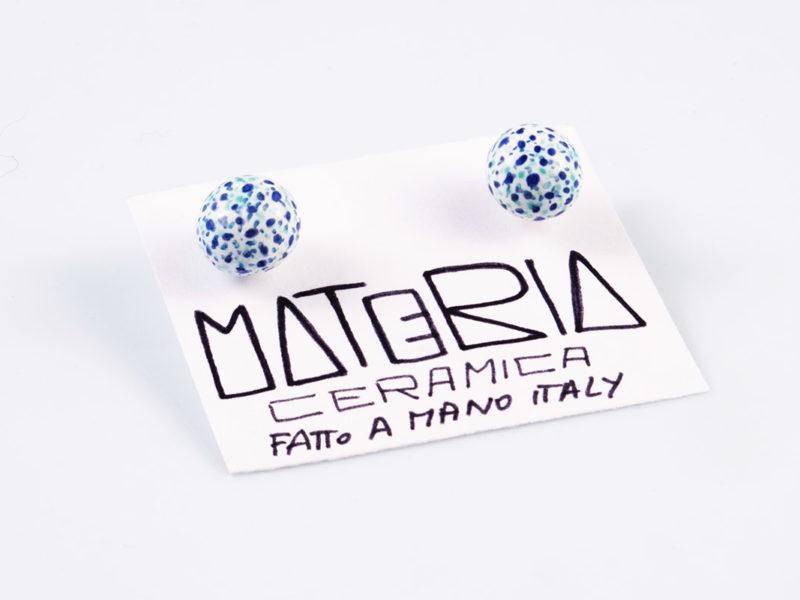 "Orecchini in ceramica ""Perle a puntini"" - Materia Ceramica"