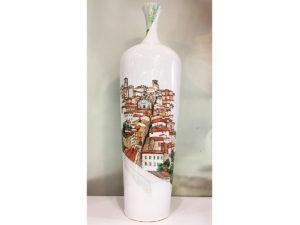 Vaso ceramica Perugia dipinto a mano - Collezione Paesaggio