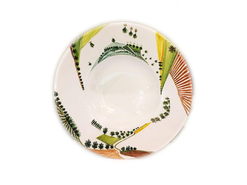 Piatto in ceramica Visioni - Materia Ceramica Perugia