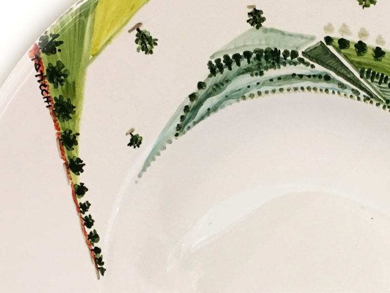 Piatto in ceramica Visioni - Materia Ceramica Perugia particolare
