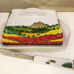 Portaburro ceramica artigianale Taticchi - Collezione Paesaggio - Perugia