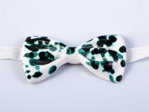 """Papillon in ceramica """"Verde ramina"""" - materia ceramica"""