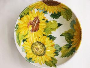 "Piatto ceramica ""Girasoli""   Materia Ceramica Perugia"