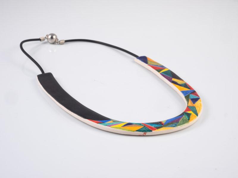"""Collana in ceramica """"Geometrie""""- Materia ceramica"""