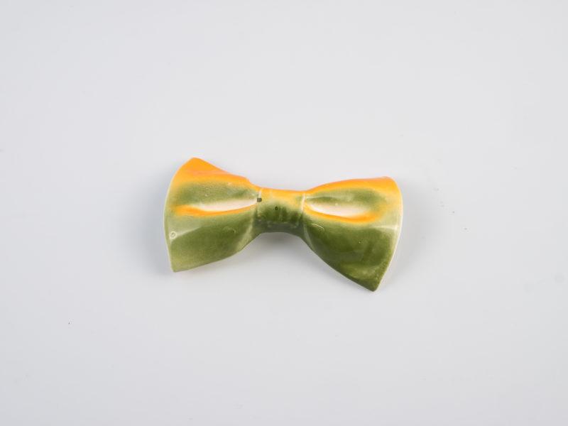 """Papillon in ceramica """"Verde arancio""""- Materia ceramica"""