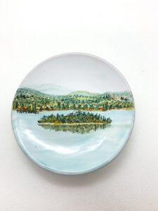 """Piatto in ceramica """"Lago Trasimeno"""""""