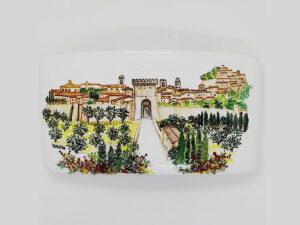 """Umidificatore in ceramica """"Vista Porta Sant'Angelo"""""""