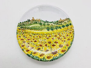 """Piatto in ceramica """"Campo di Girasoli"""""""