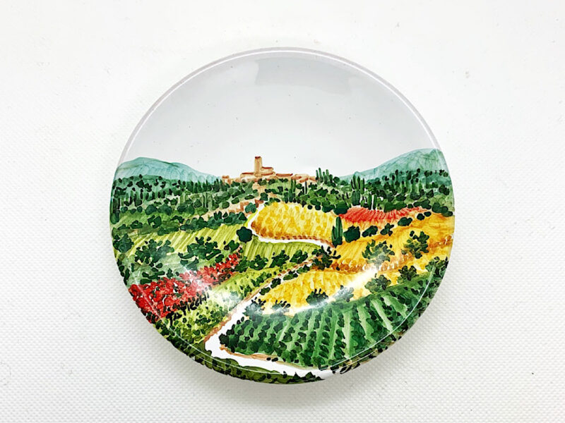 "Piatto in ceramica ""Campagna umbro-toscana"""
