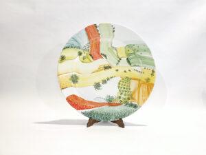 """Piatto in ceramica """"Colori di paesaggio"""""""