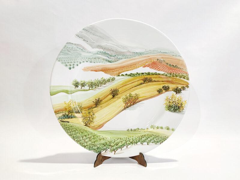 """Piatto in ceramica """"Visioni di paesaggio"""""""