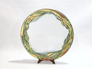 "Piatto in ceramica ""Campagna umbro-toscana 360°"""