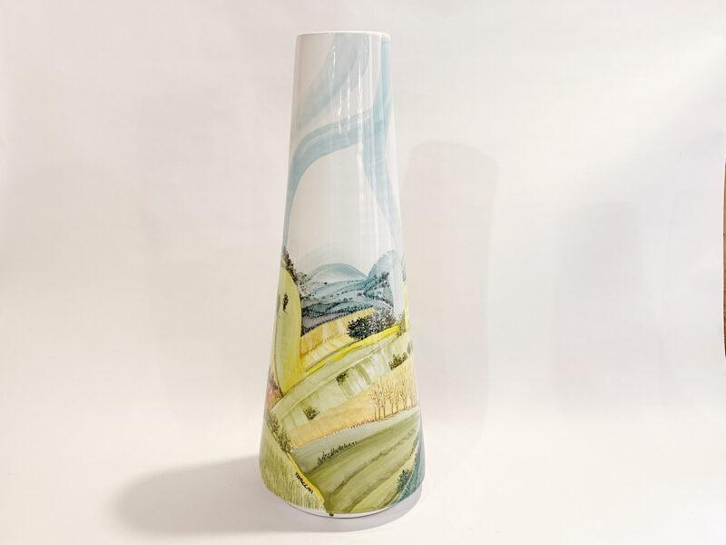 """Vaso in ceramica """"Paesaggio umbro-toscano"""""""