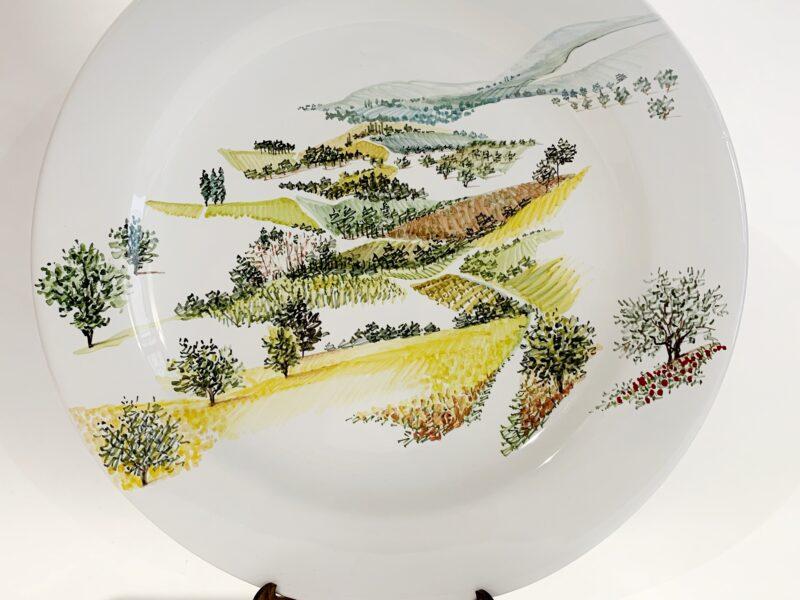 """foto Piatto in ceramica """"Visioni della campagna umbro-toscana"""""""