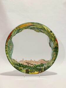 "Piatto in ceramica ""Paesaggio Perugia 360°"""