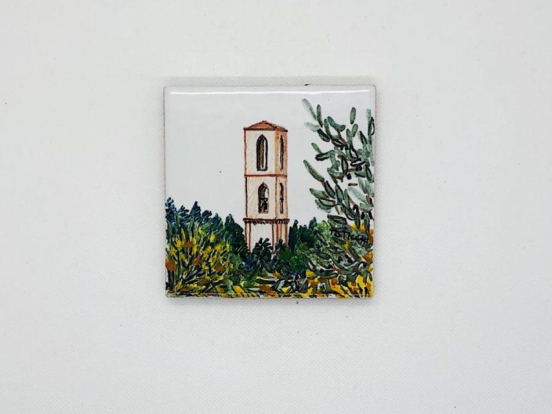 """Mattonella in ceramica """"Vista Campanile di San Domenico"""""""