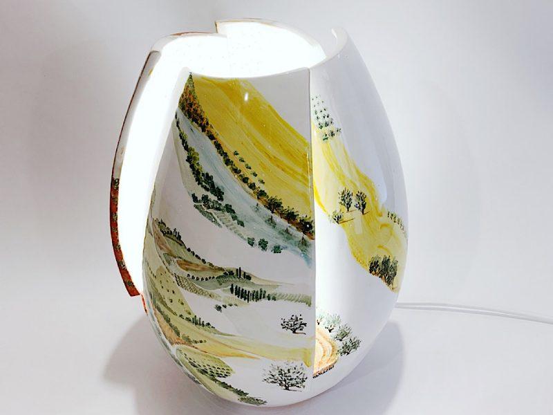 "Lampada in ceramica ""Visioni"""