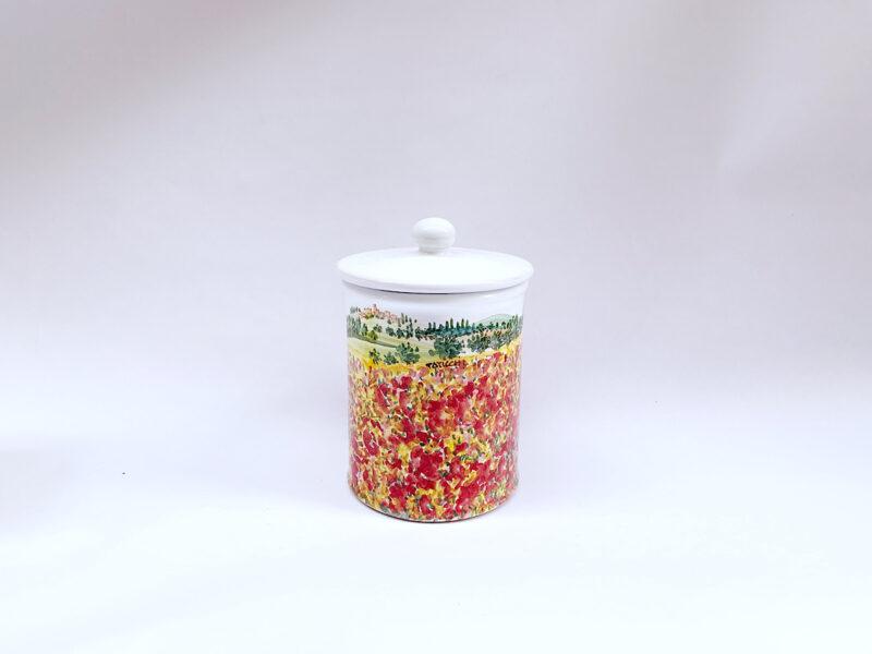 "Barattolo da cucina in ceramica ""Papaveri"""