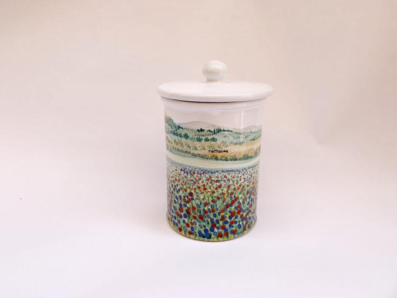 """Barattolo da cucina in ceramica """"Campo fiorito"""""""