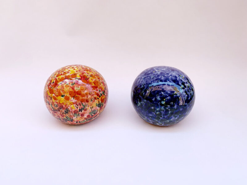 Fermacarte in ceramica Blu/Rosso
