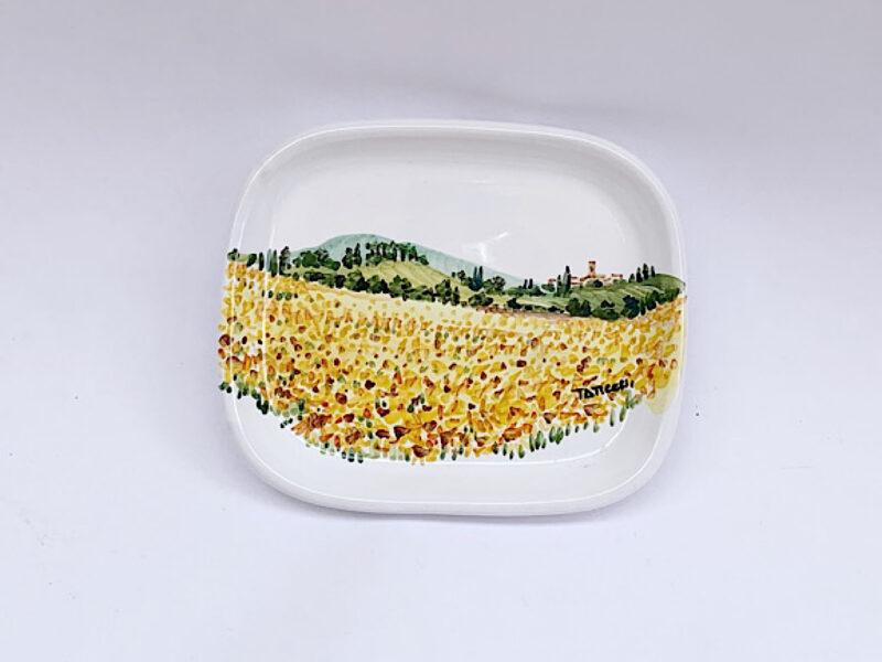 """Piattino in ceramica """"girasoli"""""""