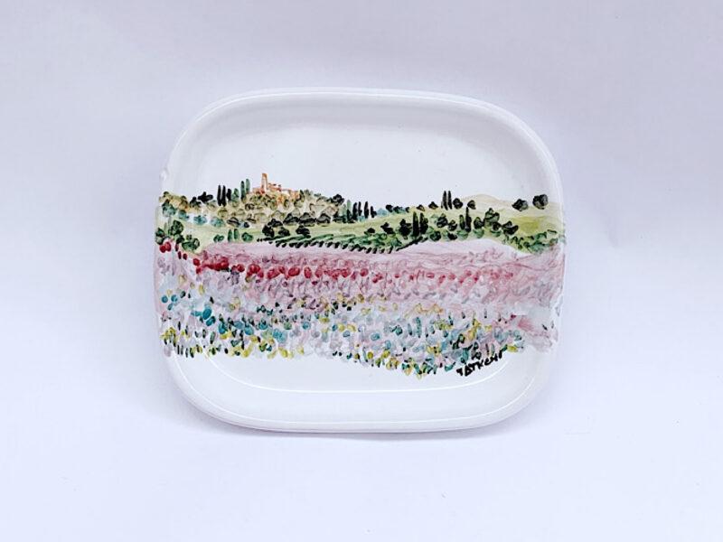 """Piattino in ceramica """"primavera"""""""