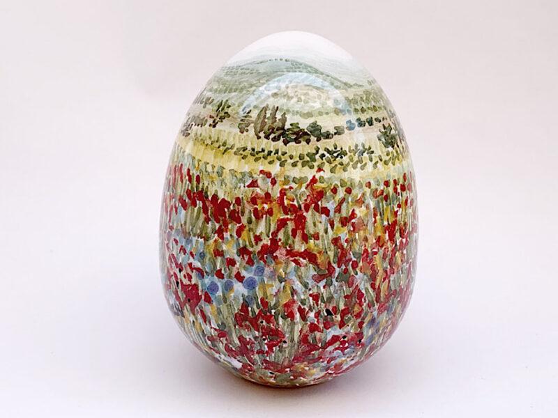 """Uovo in ceramica """"Fiorita di Castelluccio di Norcia"""""""