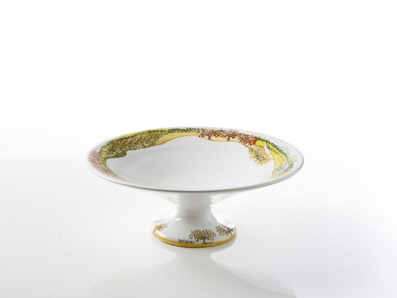 """Fruttiera centrotavola in ceramica """"Visioni"""""""