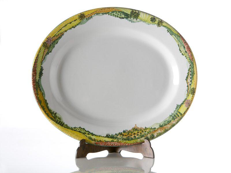 piatto ovale servizio tavola paesaggio 1200x900
