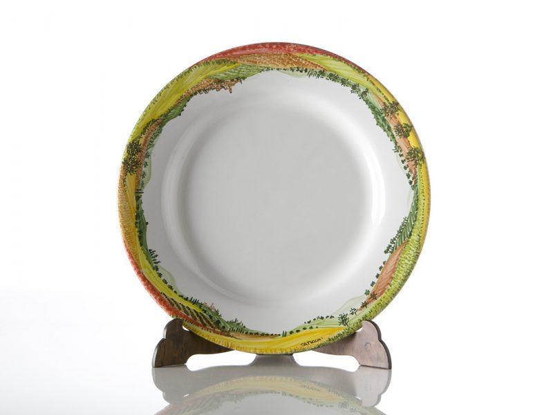 """Piatto piano in ceramica servizio """"Paesaggio"""""""