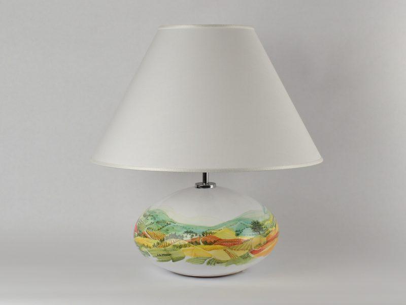 """Lampada in ceramica """"paesaggio umbro"""""""