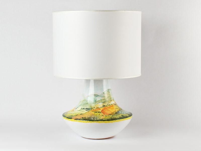 """Lampada in ceramica """"Distese umbro-toscane"""""""