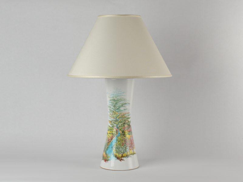 """Lampada in ceramica """"Paesaggio Primaverile"""""""