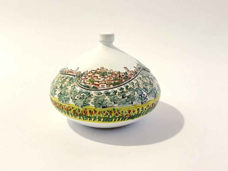 """scatola in ceramica collezione """"paesaggio Perugia Skyline"""""""