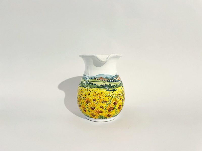 "Brocca in ceramica ""Girasoli"""