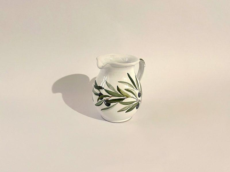 "Brocca in ceramica ""ramo d'olivo"""