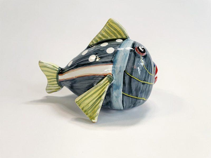 """Pesce in ceramica piccolo """"pois"""""""