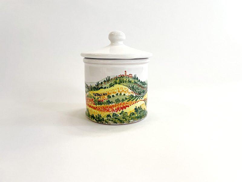 "Zuccheriera in ceramica ""Paesaggio"""