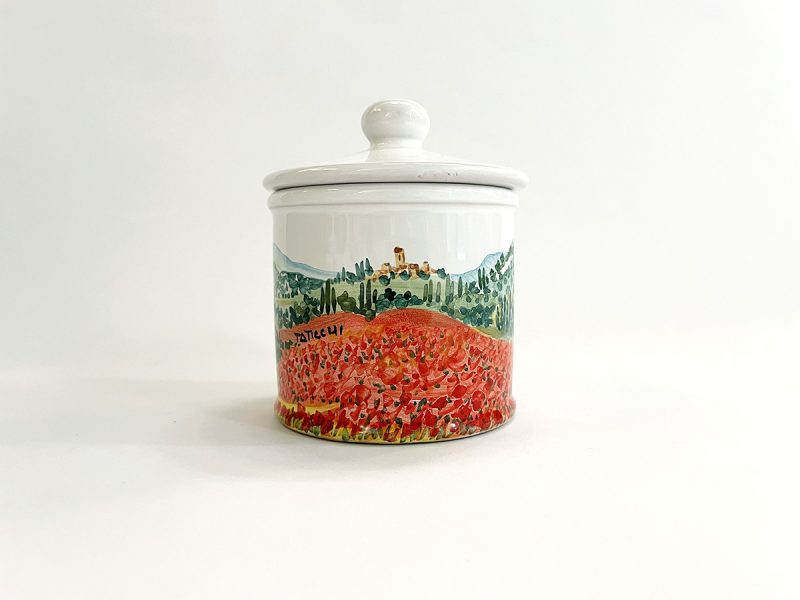 "Zuccheriera in ceramica ""Campo papaveri"""